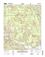 Newport North Carolina Current topographic map, 1:24000 scale, 7.5 X 7.5 Minute, Year 2016 from North Carolina Map Store