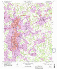 Newton North Carolina Historical topographic map, 1:24000 scale, 7.5 X 7.5 Minute, Year 1993