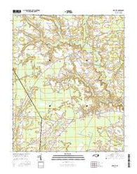 Oak City North Carolina Current topographic map, 1:24000 scale, 7.5 X 7.5 Minute, Year 2016