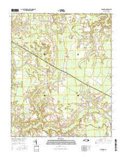 Old Ford North Carolina Current topographic map, 1:24000 scale, 7.5 X 7.5 Minute, Year 2016 from North Carolina Maps Store