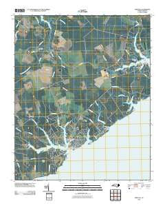 Oriental North Carolina Historical topographic map, 1:24000 scale, 7.5 X 7.5 Minute, Year 2010