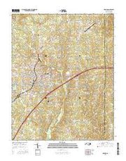 Oxford North Carolina Current topographic map, 1:24000 scale, 7.5 X 7.5 Minute, Year 2016 from North Carolina Maps Store
