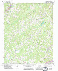 Park Spring North Carolina Historical topographic map, 1:24000 scale, 7.5 X 7.5 Minute, Year 1972