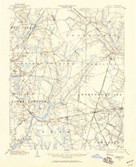 Parmele North Carolina Historical topographic map, 1:62500 scale, 15 X 15 Minute, Year 1902
