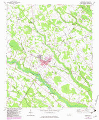 Pembroke North Carolina Historical topographic map, 1:24000 scale, 7.5 X 7.5 Minute, Year 1972