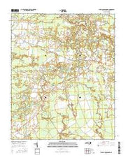 Phillips Crossroads North Carolina Current topographic map, 1:24000 scale, 7.5 X 7.5 Minute, Year 2016 from North Carolina Maps Store