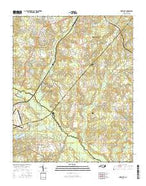 Pinebluff North Carolina Current topographic map, 1:24000 scale, 7.5 X 7.5 Minute, Year 2016 from North Carolina Map Store