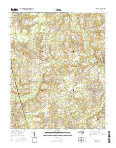 Pinetops North Carolina Current topographic map, 1:24000 scale, 7.5 X 7.5 Minute, Year 2016