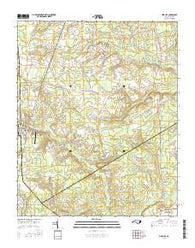 Pink Hill North Carolina Current topographic map, 1:24000 scale, 7.5 X 7.5 Minute, Year 2016