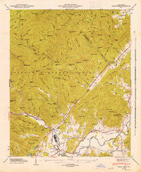 Pisgah Forest North Carolina Historical topographic map, 1:24000 scale, 7.5 X 7.5 Minute, Year 1946