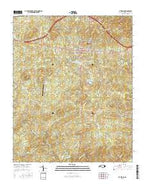Pittsboro North Carolina Current topographic map, 1:24000 scale, 7.5 X 7.5 Minute, Year 2016 from North Carolina Map Store