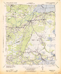 Plymouth North Carolina Historical topographic map, 1:125000 scale, 30 X 30 Minute, Year 1943