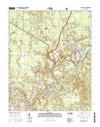 Pollocksville North Carolina Current topographic map, 1:24000 scale, 7.5 X 7.5 Minute, Year 2016