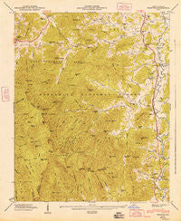 Prentiss North Carolina Historical topographic map, 1:24000 scale, 7.5 X 7.5 Minute, Year 1947