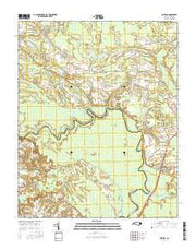 Quitsna North Carolina Current topographic map, 1:24000 scale, 7.5 X 7.5 Minute, Year 2016 from North Carolina Maps Store
