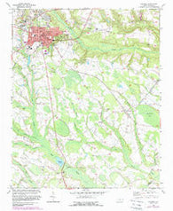 Raeford North Carolina Historical topographic map, 1:24000 scale, 7.5 X 7.5 Minute, Year 1972