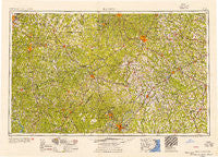 Raleigh North Carolina Historical topographic map, 1:250000 scale, 1 X 2 Degree, Year 1954