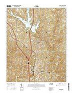 Randleman North Carolina Current topographic map, 1:24000 scale, 7.5 X 7.5 Minute, Year 2016 from North Carolina Map Store