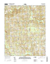 Red Oak North Carolina Current topographic map, 1:24000 scale, 7.5 X 7.5 Minute, Year 2016