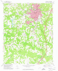 Reidsville North Carolina Historical topographic map, 1:24000 scale, 7.5 X 7.5 Minute, Year 1972