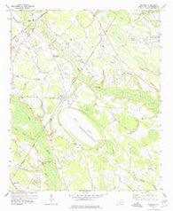 Rennert North Carolina Historical topographic map, 1:24000 scale, 7.5 X 7.5 Minute, Year 1972