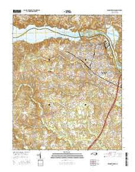 Roanoke Rapids North Carolina Current topographic map, 1:24000 scale, 7.5 X 7.5 Minute, Year 2016