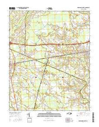 Robersonville West North Carolina Current topographic map, 1:24000 scale, 7.5 X 7.5 Minute, Year 2016