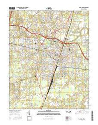 Rocky Mount North Carolina Current topographic map, 1:24000 scale, 7.5 X 7.5 Minute, Year 2016
