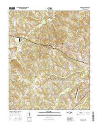 Rowan Mills North Carolina Current topographic map, 1:24000 scale, 7.5 X 7.5 Minute, Year 2016