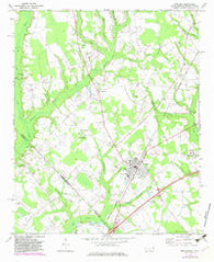 Rowland North Carolina Historical topographic map, 1:24000 scale, 7.5 X 7.5 Minute, Year 1972