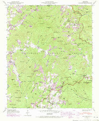 Scaly Mountain North Carolina Historical topographic map, 1:24000 scale, 7.5 X 7.5 Minute, Year 1946