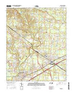 Selma North Carolina Current topographic map, 1:24000 scale, 7.5 X 7.5 Minute, Year 2016 from North Carolina Map Store