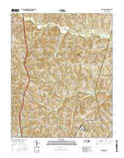 Shepherds North Carolina Current topographic map, 1:24000 scale, 7.5 X 7.5 Minute, Year 2016 from North Carolina Maps Store