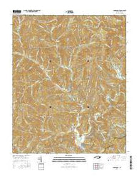 Smokemont North Carolina Current topographic map, 1:24000 scale, 7.5 X 7.5 Minute, Year 2016