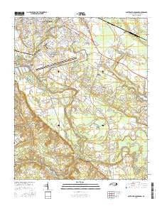 Southeast Goldsboro North Carolina Current topographic map, 1:24000 scale, 7.5 X 7.5 Minute, Year 2016