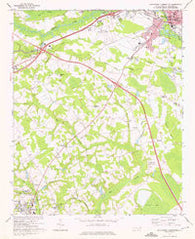 Southwest Lumberton North Carolina Historical topographic map, 1:24000 scale, 7.5 X 7.5 Minute, Year 1972