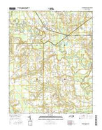 Stantonsburg North Carolina Current topographic map, 1:24000 scale, 7.5 X 7.5 Minute, Year 2016 from North Carolina Map Store