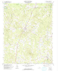 Stovall North Carolina Historical topographic map, 1:24000 scale, 7.5 X 7.5 Minute, Year 1981
