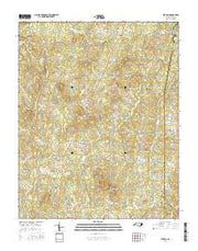 Stovall North Carolina Current topographic map, 1:24000 scale, 7.5 X 7.5 Minute, Year 2016 from North Carolina Maps Store