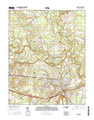Tarboro North Carolina Current topographic map, 1:24000 scale, 7.5 X 7.5 Minute, Year 2016