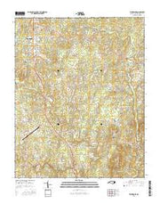 Timberlake North Carolina Current topographic map, 1:24000 scale, 7.5 X 7.5 Minute, Year 2016 from North Carolina Maps Store