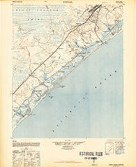 Topsail North Carolina Historical topographic map, 1:62500 scale, 15 X 15 Minute, Year 1948