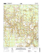 Trenton North Carolina Current topographic map, 1:24000 scale, 7.5 X 7.5 Minute, Year 2016 from North Carolina Map Store