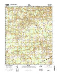 Union North Carolina Current topographic map, 1:24000 scale, 7.5 X 7.5 Minute, Year 2016