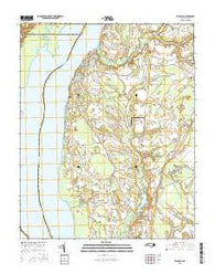 Valhalla North Carolina Current topographic map, 1:24000 scale, 7.5 X 7.5 Minute, Year 2016