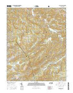 Valle Crucis North Carolina Current topographic map, 1:24000 scale, 7.5 X 7.5 Minute, Year 2016 from North Carolina Map Store