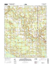 Vanceboro North Carolina Current topographic map, 1:24000 scale, 7.5 X 7.5 Minute, Year 2016 from North Carolina Maps Store