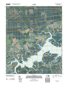 Vandemere North Carolina Historical topographic map, 1:24000 scale, 7.5 X 7.5 Minute, Year 2010