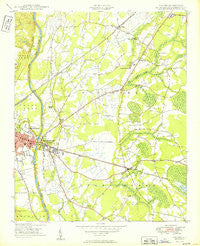 Vander North Carolina Historical topographic map, 1:24000 scale, 7.5 X 7.5 Minute, Year 1949