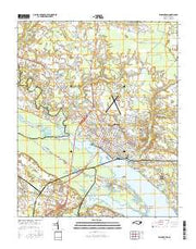 Washington North Carolina Current topographic map, 1:24000 scale, 7.5 X 7.5 Minute, Year 2016 from North Carolina Maps Store